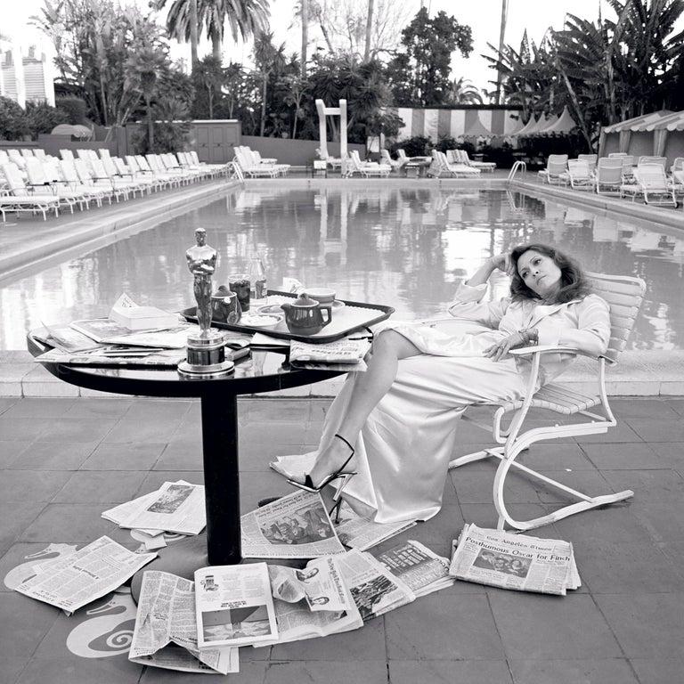 "Terry O'Neill Black and White Photograph - ""Oscar Ennui"" Los Angeles, 1977"