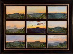 Nine Tuscan Sunsets