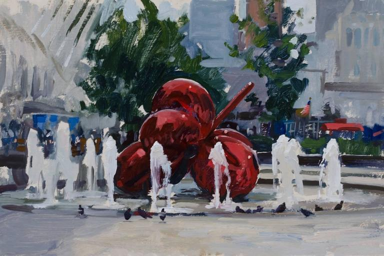 Marc Dalessio Landscape Painting - A Plein Air Koons