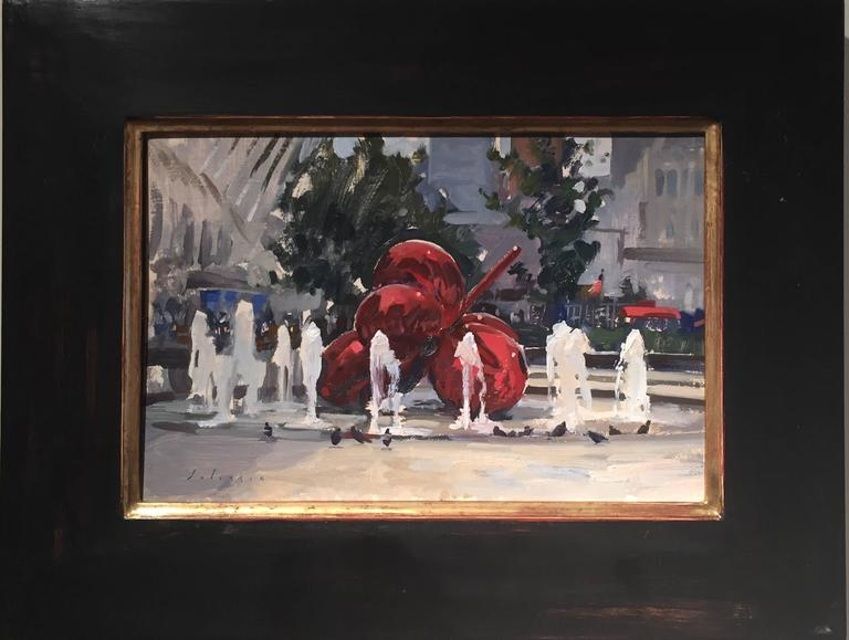 A Plein Air Koons - Painting by Marc Dalessio