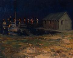 Fishing Shack at Night, Grand Marais