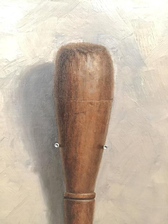 Chisel Back - Gray Still-Life Painting by John Morfis