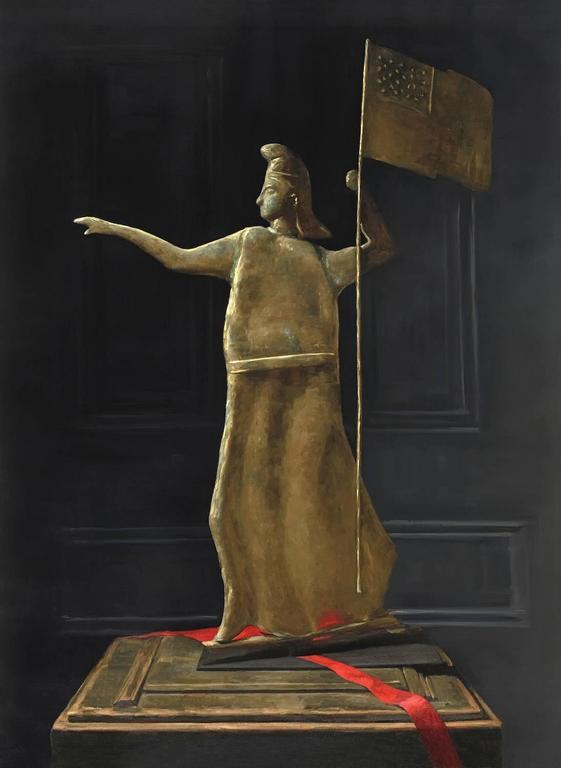 Sarah Lamb Still-Life Painting - Goddess of Liberty Weathervane