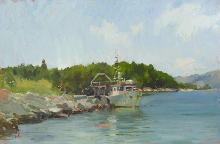Marc Dalessio Landscape Painting - Korcula Fishing Boat