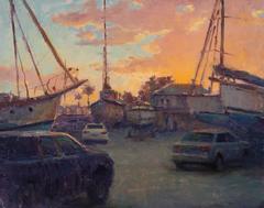 Boat Yard Sunset