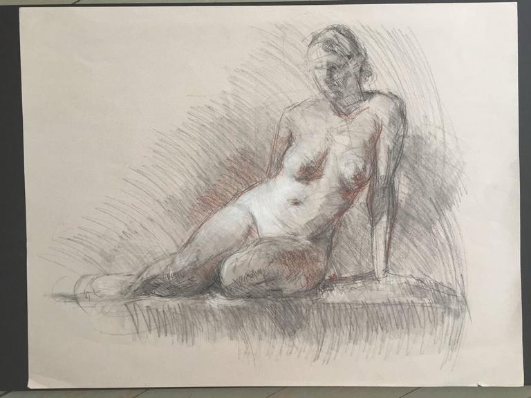 Nude Sketch - Academic Art by Ben Fenske