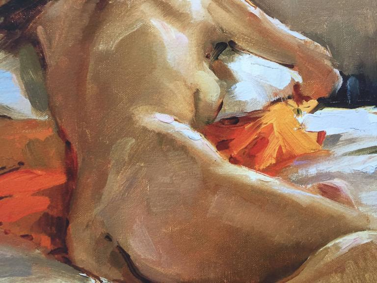 Seated Nude - Academic Print by Beth Rundquist