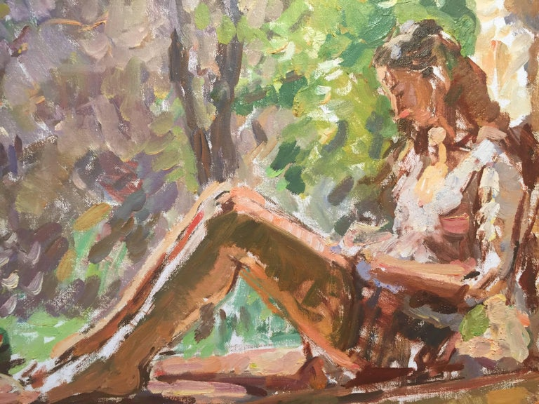 Morning - American Impressionist Painting by Ben Fenske