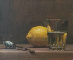 Lemon Painting with Glass
