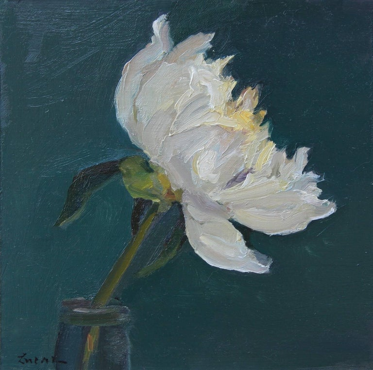 Maryann Lucas Still-Life Painting - Peony in Profile