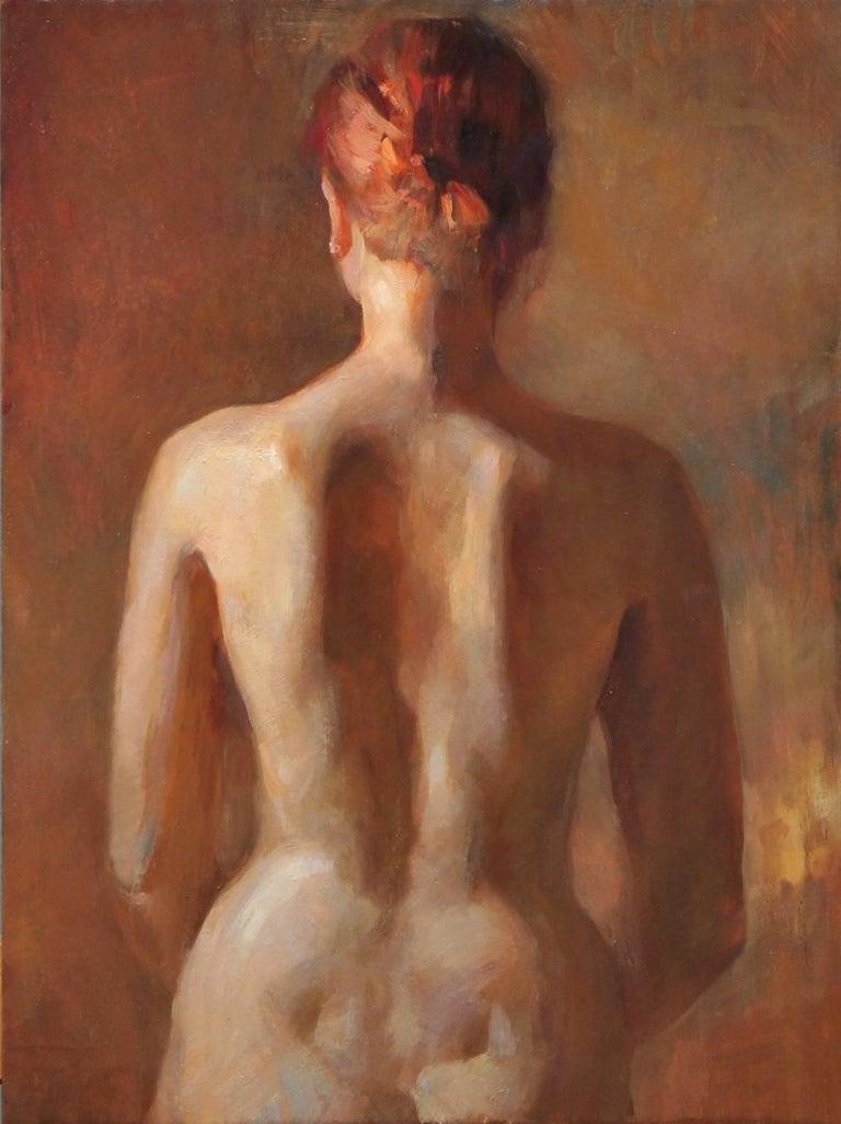 Angel Ramiro Sanchez Nude Painting - Nude, Back