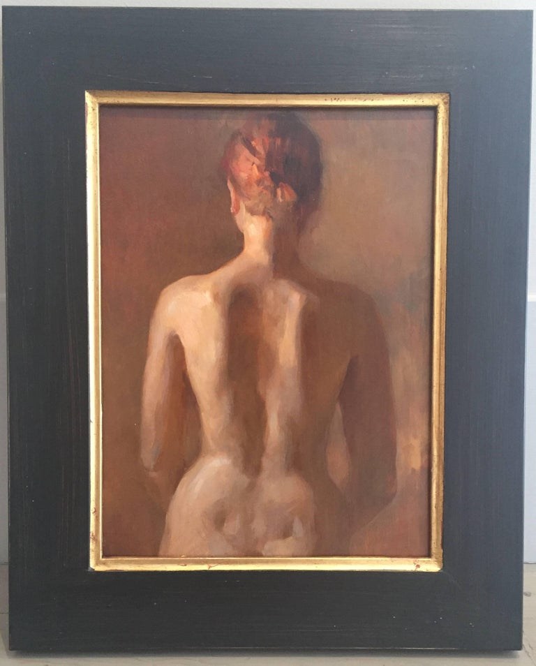 Nude, Back - Painting by Angel Ramiro Sanchez