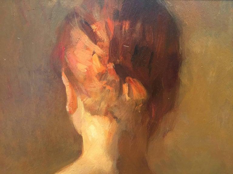 Nude, Back - Academic Painting by Angel Ramiro Sanchez