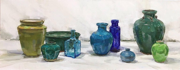 Beth Rundquist Still-Life Painting - The Blues
