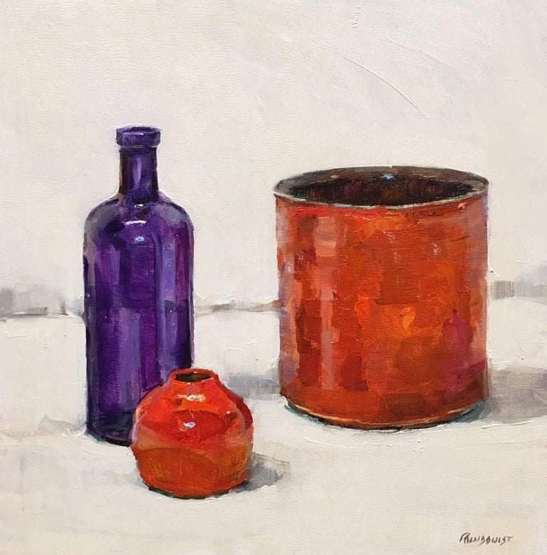 Beth Rundquist Still-Life Painting - Ink Well Red