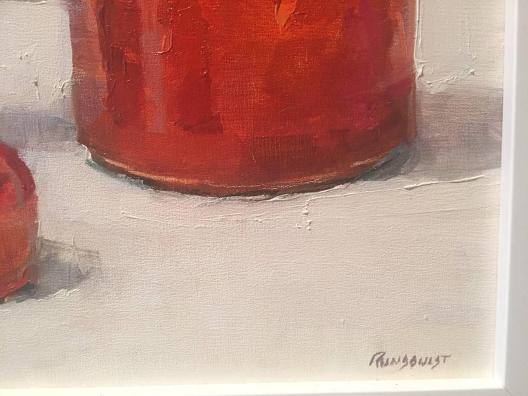 Ink Well Red - American Realist Painting by Beth Rundquist