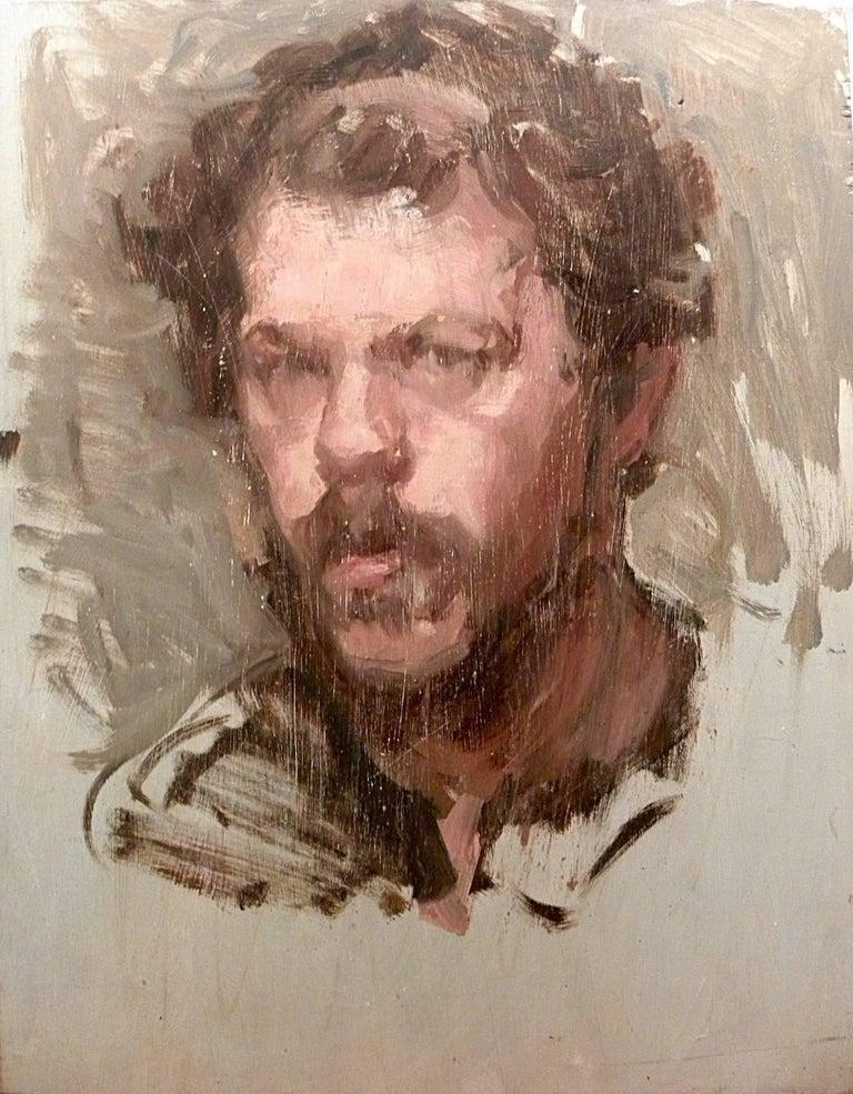 Ben Fenske Portrait Painting - Self Portrait Sketch