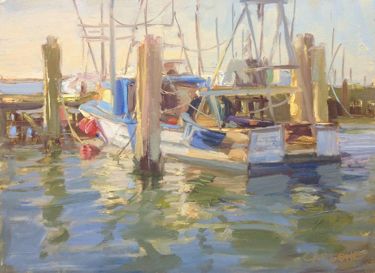 Thomas Cardone Figurative Painting - Town Dock, Hampton Bays