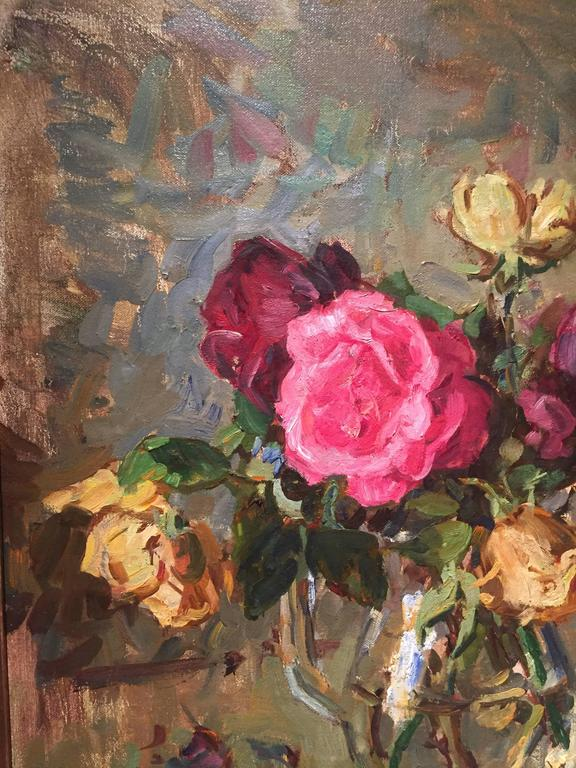 Roses - American Impressionist Painting by Ben Fenske