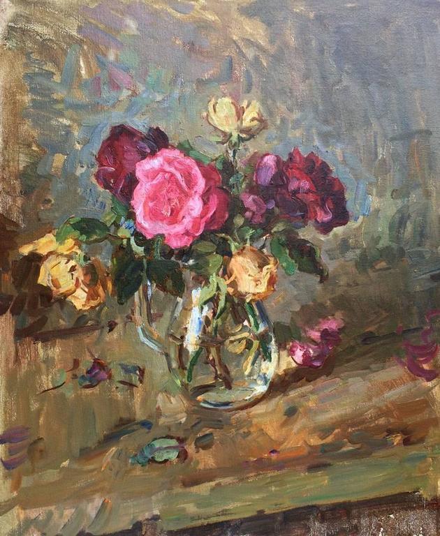 Ben Fenske Still-Life Painting - Roses