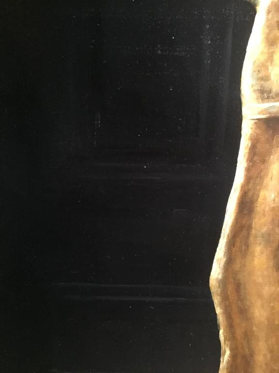Goddess of Liberty Weathervane - Black Still-Life Painting by Sarah Lamb