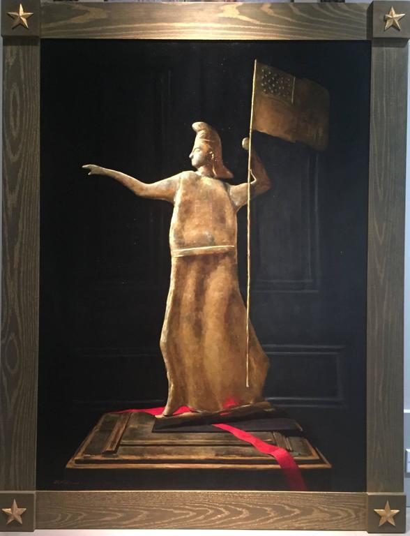 Goddess of Liberty Weathervane - Painting by Sarah Lamb