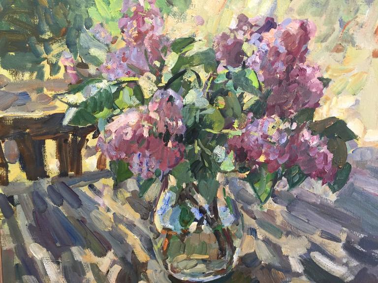 Ben Fenske Lilacs Painting For Sale At 1stdibs