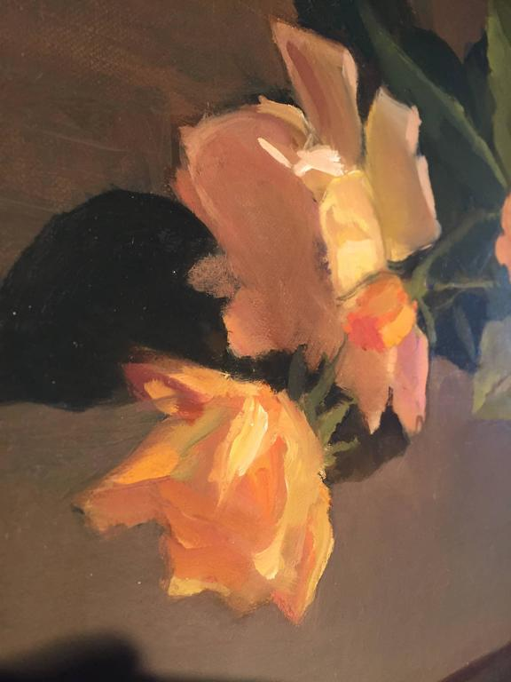 Summer Glow - Black Still-Life Painting by Maryann Lucas