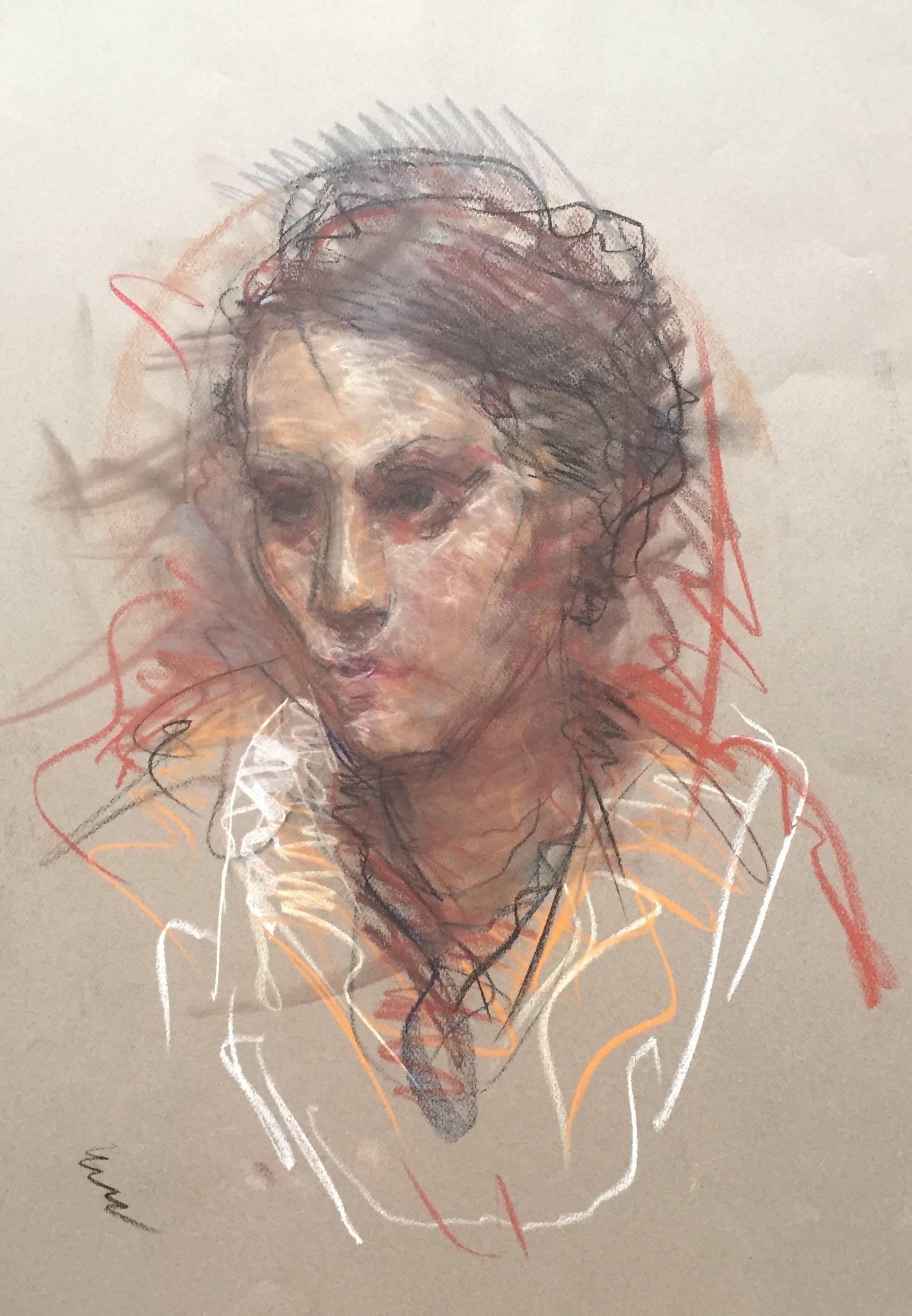Francisco Zuniga Francisco Zuniga Original Conte Crayon Drawing Hand Signed Female Portrait Art For Sale At 1stdibs