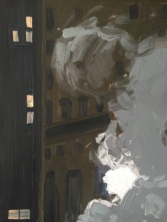 Hard Boiled - Gray Landscape Painting by Benjamin Lussier