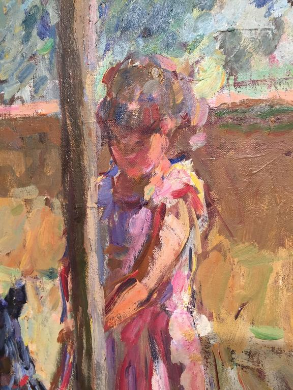 Summer Afternoon - Brown Figurative Painting by Ben Fenske