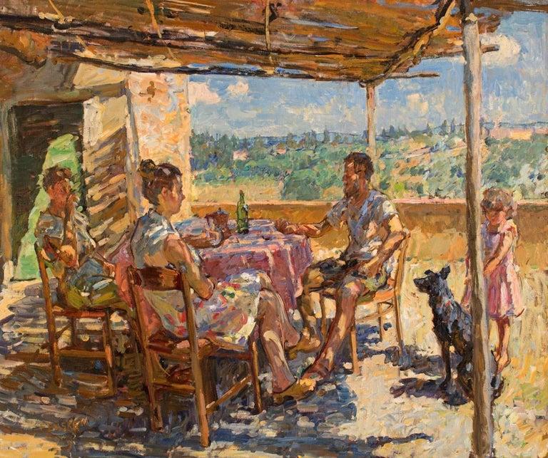 Ben Fenske Figurative Painting - Summer Afternoon
