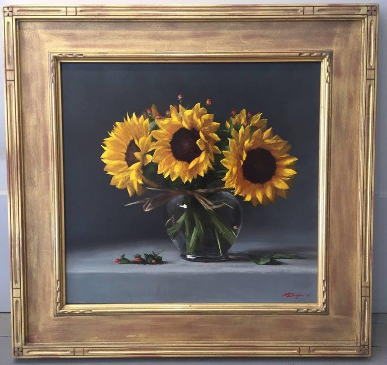 Sunflowers - Painting by Sarah Lamb