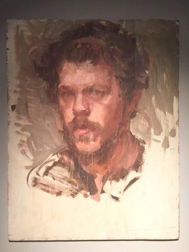 Self Portrait Sketch - Painting by Ben Fenske