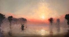 Flooded River  Luminous Dawn