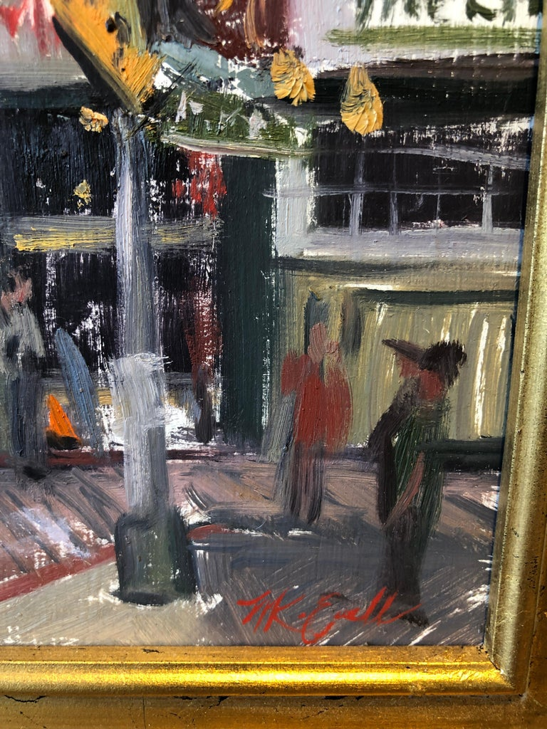 Pike Place Market - Gray Figurative Painting by Megan Euell