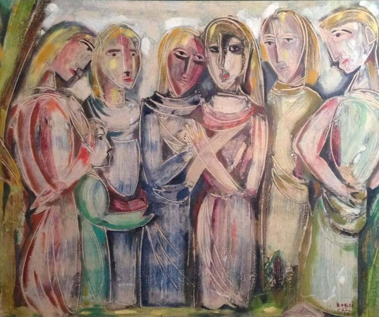 Manfredo Borsi Figurative Painting - The Conversation