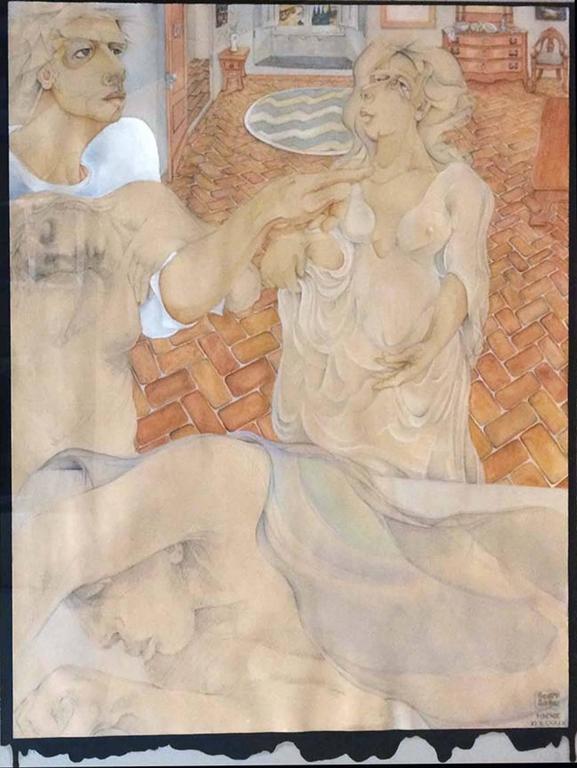 SCOTT RANDALL LESH Figurative Painting - FRIENDS