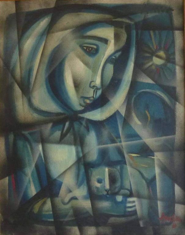 Irving Amen Portrait Painting - PORTRAIT OF PATRICIA