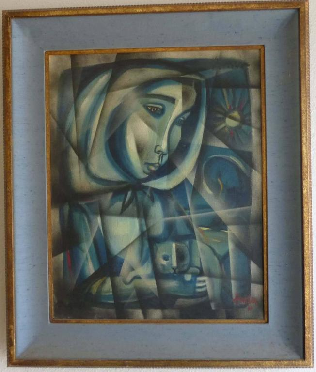 PORTRAIT OF PATRICIA - Painting by Irving Amen