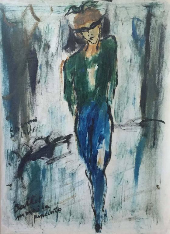 Ballet Dancers PAIR - Modern Painting by Roger Etienne