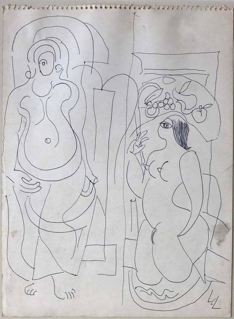 Cubist Nudes - Art by Louis Latapie