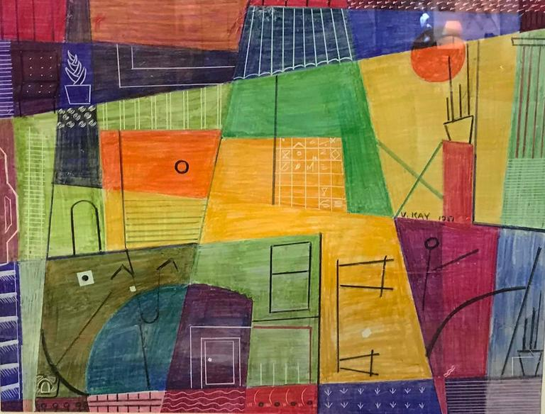 Virginia Gould Kay Abstract Painting - City