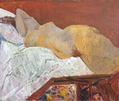RECLINING NUDE IN STUDIO