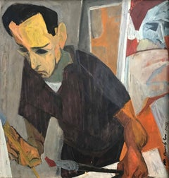 PORTRAIT OF MARTIN LUBNER PAINTING