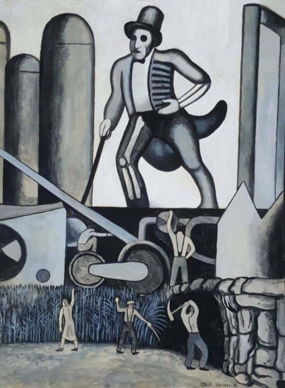 Jacob Berman Figurative Painting - The New Masses