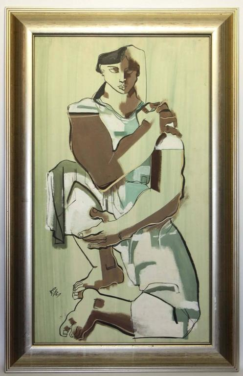 Robert T. Ritter Figurative Painting - Seated Woman
