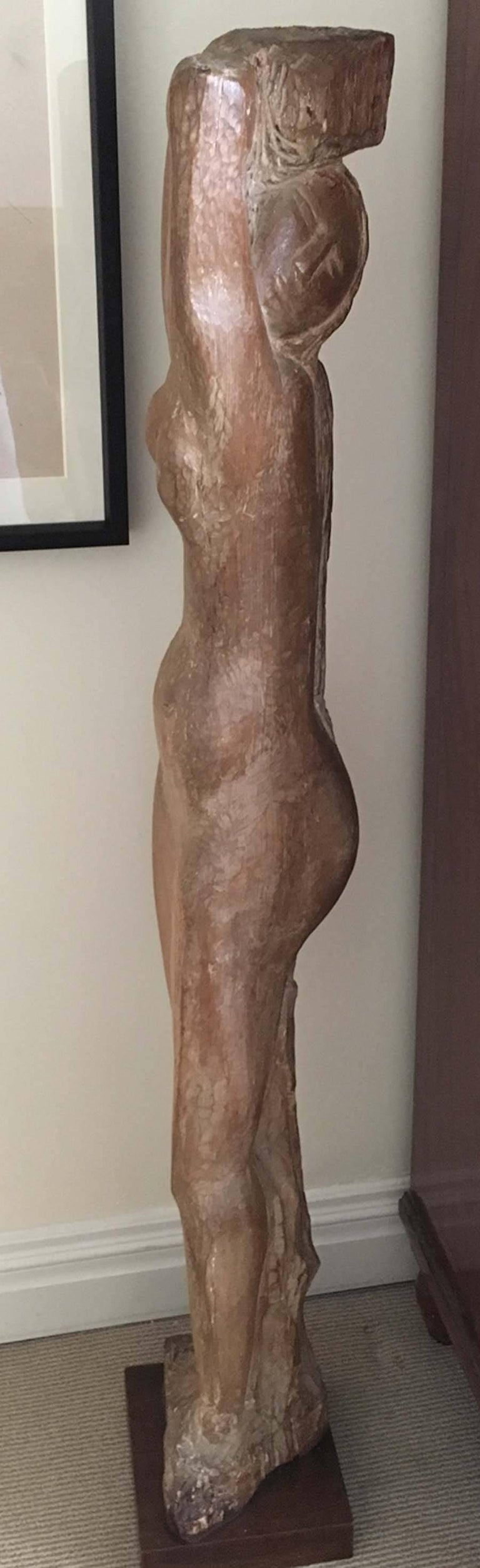 Standing Nude - Cubist Sculpture by Lorrie Goulet