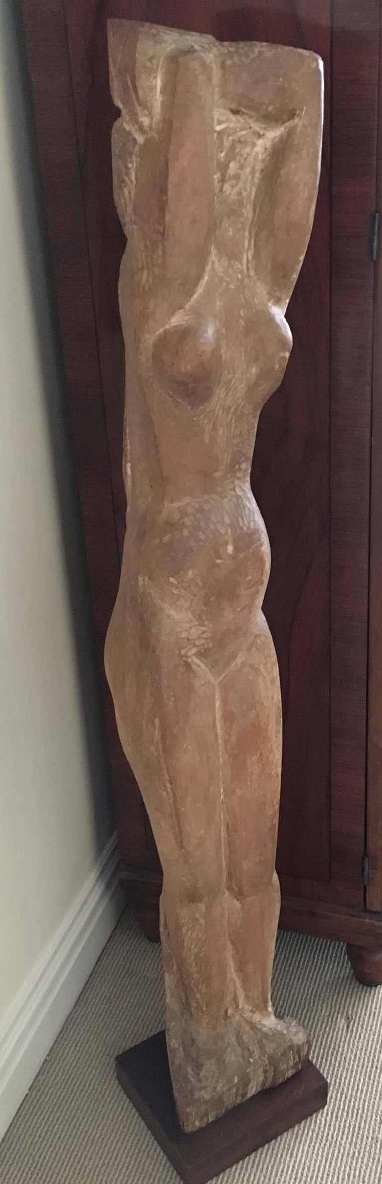 Standing Nude - Brown Figurative Sculpture by Lorrie Goulet