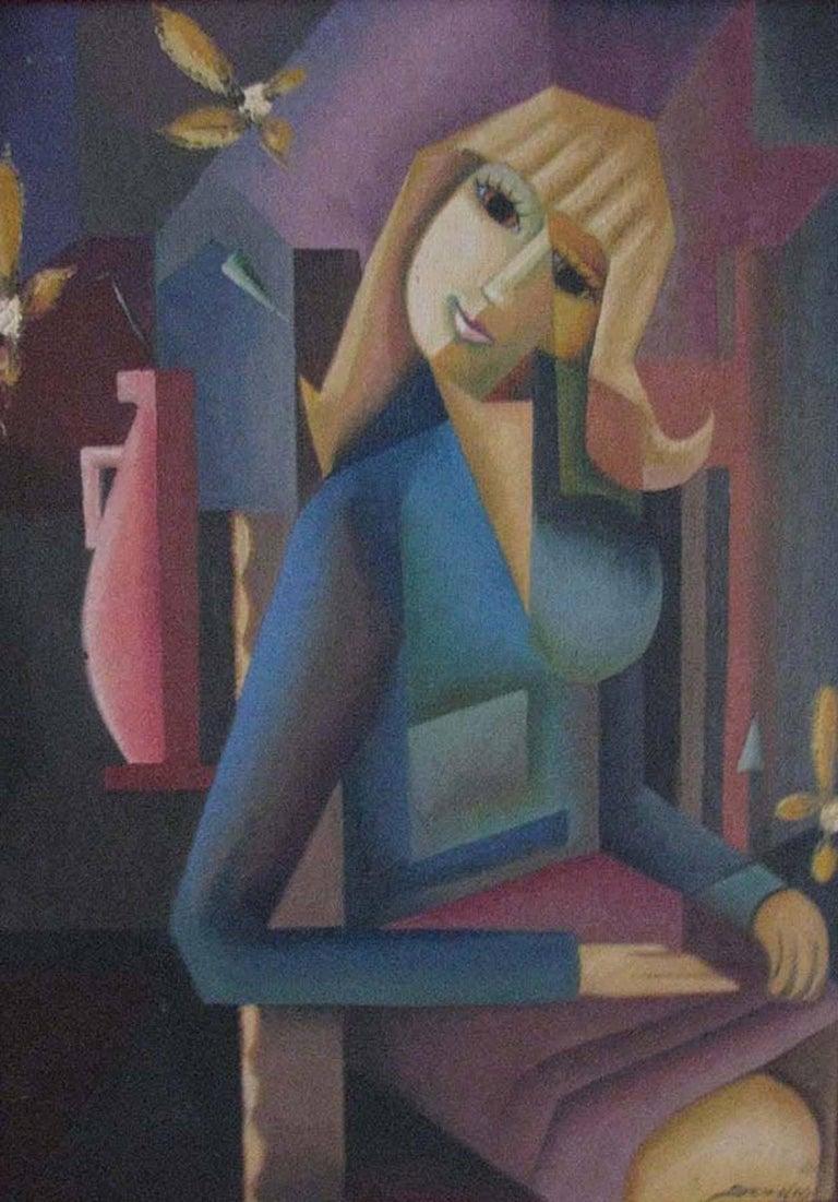 Eloisa Schwab Portrait Painting - Seated Woman